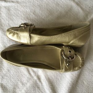 Gold BCBG ballet flats-NEW